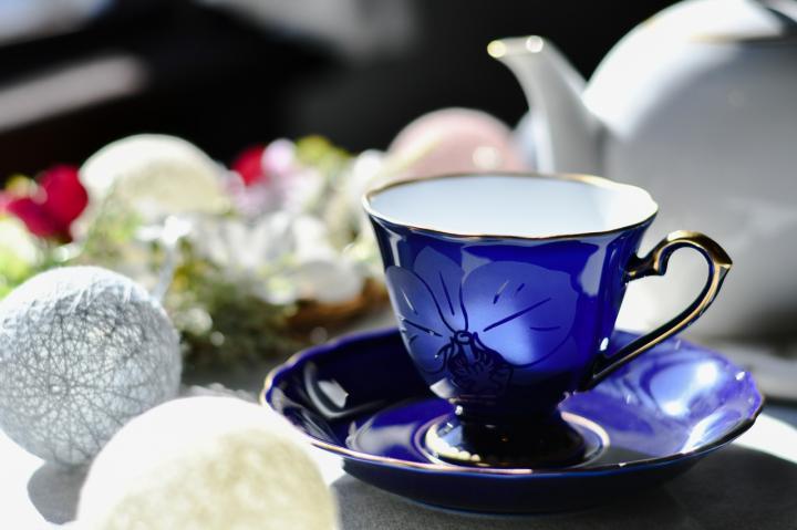 ブラスト洋ラン コーヒー碗皿